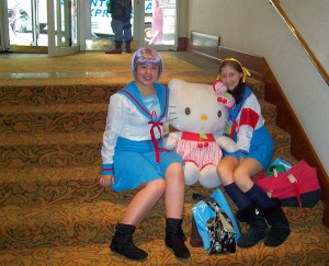 Cosplayers With Hello Kitty I